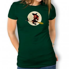 Camiseta Bruja y Gato PARA mujer