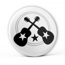 Chapa Guitarras con Estrella