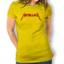 Camiseta Metalica para mujer