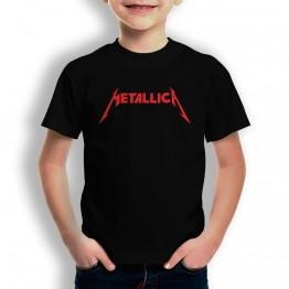 Camiseta Metalica para niños