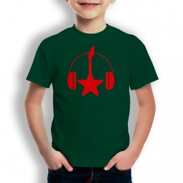 Camiseta Guitarra y Cascos para Niños