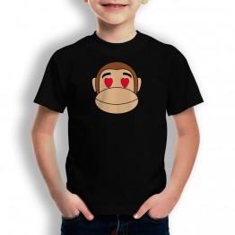 Camiseta Mono Franky Enamorado para niños