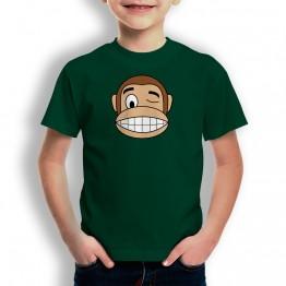Camiseta Mono Franky Guiño para niños