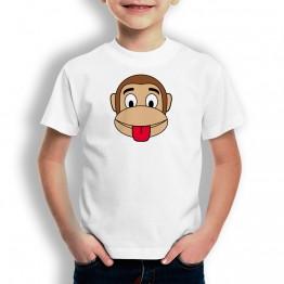 Camiseta Mono Franky Lengua para niños