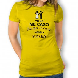 Camiseta Yo No Me Caso para mujer