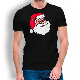 Camiseta Cara de Papá Noel hombre