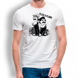 Camiseta Plata o Plomo para hombre