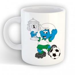 Taza Pitufo Fútbol