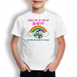 Me Quedo En Casa camiseta para niños