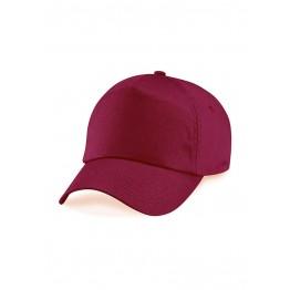 Gorra niño de 5 Paneles Rojo Burdeos