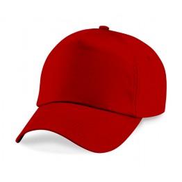 Gorra Adulto 5 Paneles Rojo