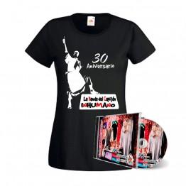 Pack Camiseta mujer Negra con silueta Saqueando Camerinos