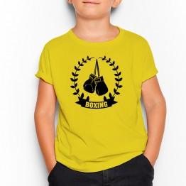 camiseta amarilla niño laurel boxeo