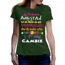 CAMISETA VERDADERA AMISTAD VERDE