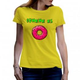 Camiseta Comeme el Donut para mujer