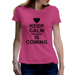 CAMISETA WEDDING COMING MUJER