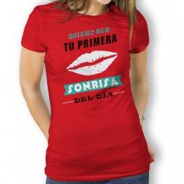 camiseta tu primera sonrisa mujer