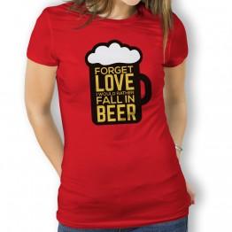 camiseta cerveza amor mujer