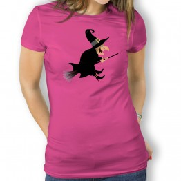 Camiseta Bruja Escoba mujer
